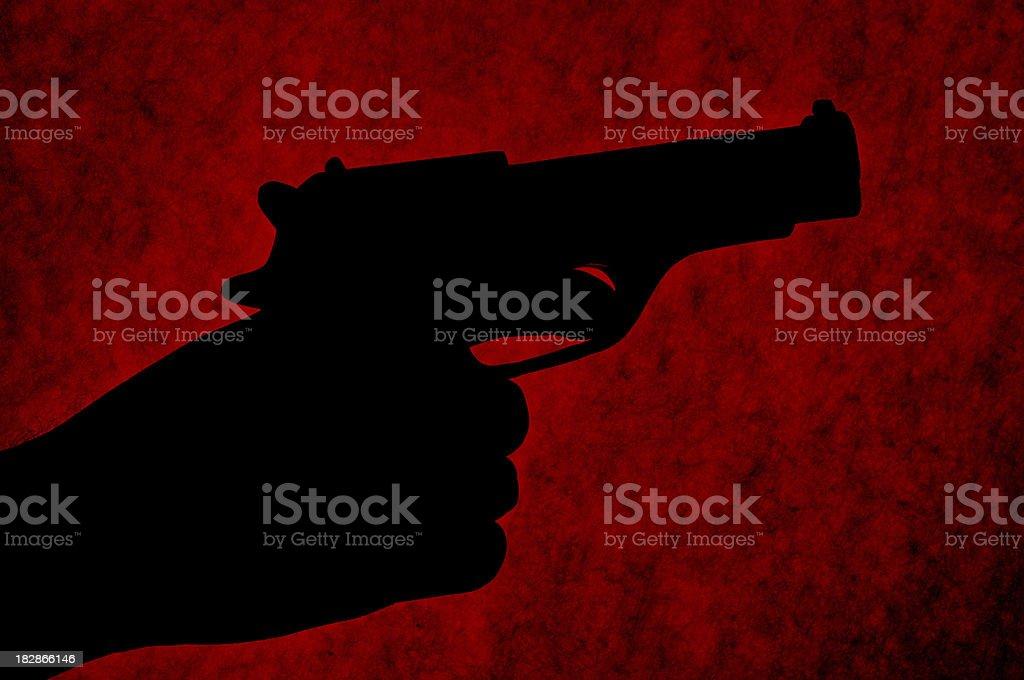 Gun Silhouette stock photo
