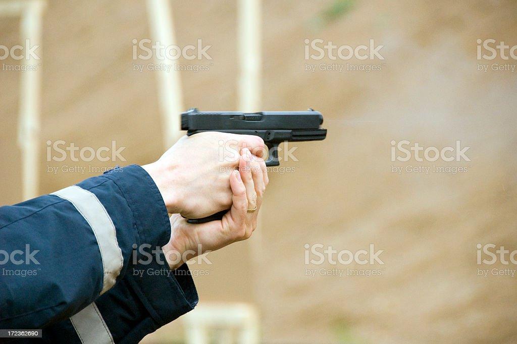 Gun smoke royalty-free stock photo