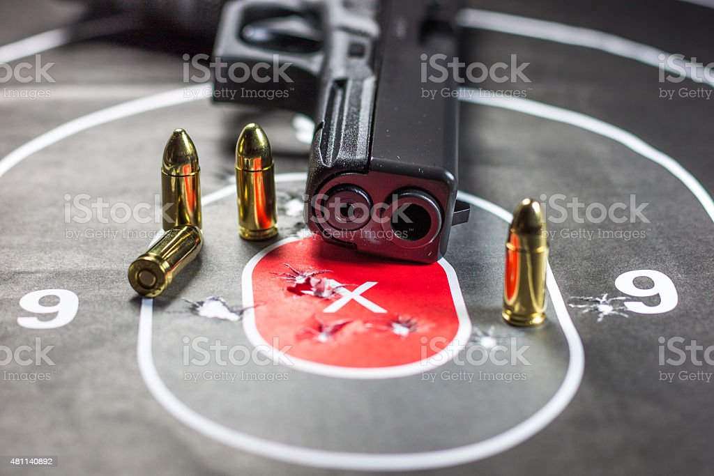 Gun Target Practicing Shooting stock photo