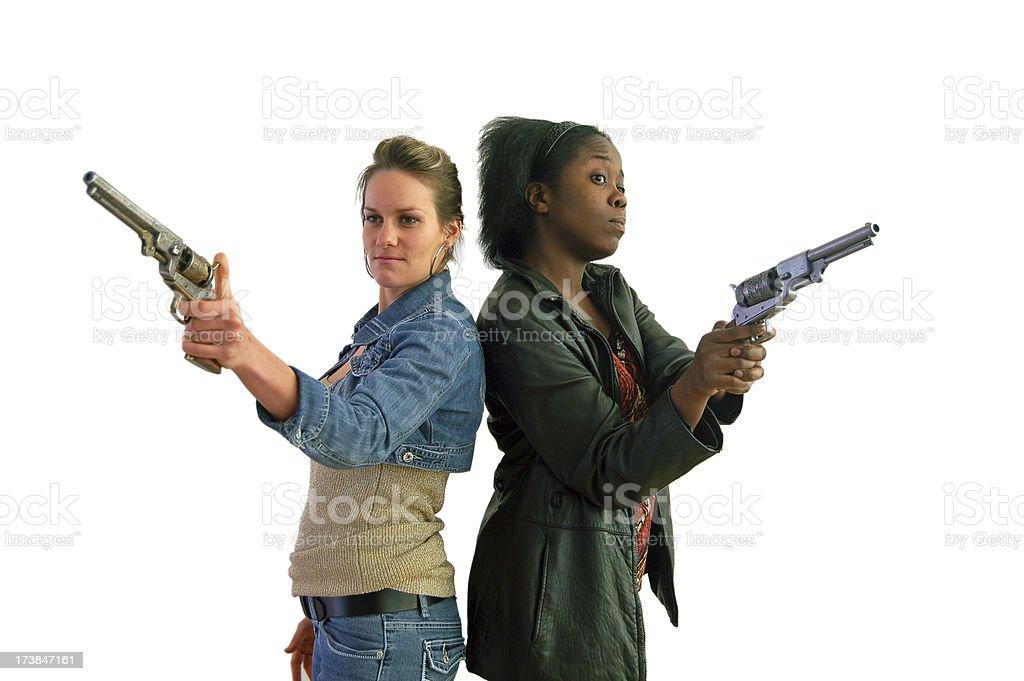 Gun Tote'n Mamas stock photo