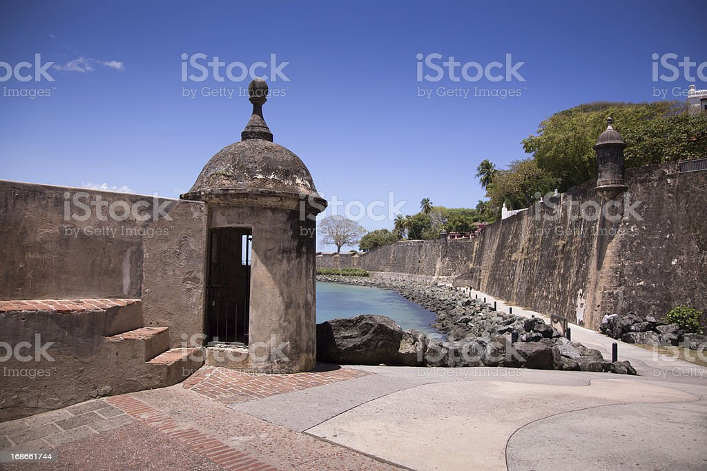 Gun Tower at El Morro stock photo