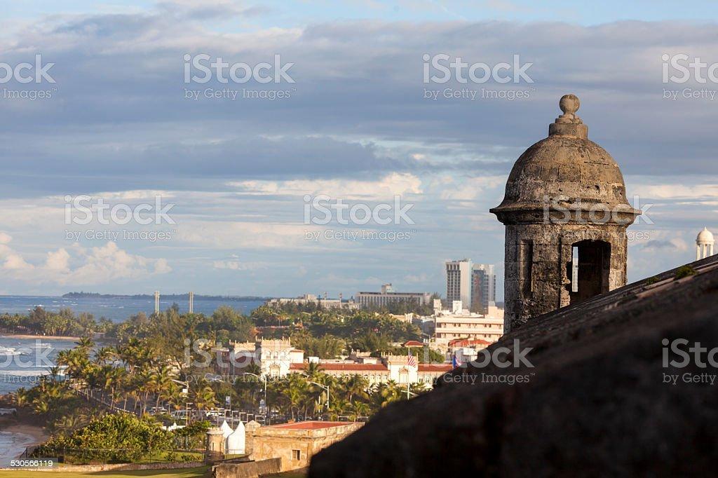 Gun Tower, San Cristobal Fort stock photo