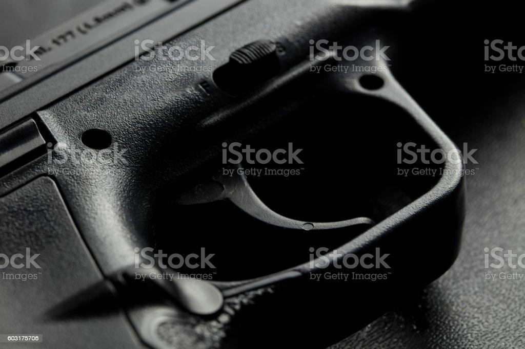 Gun Trigger stock photo