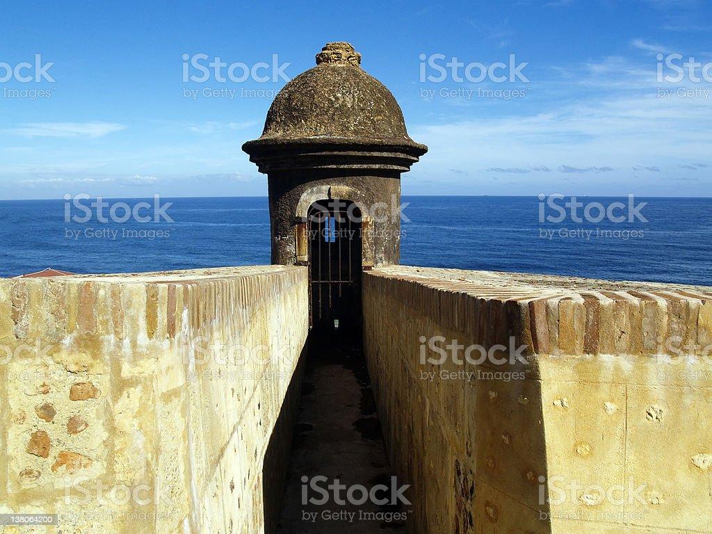 Gun Turret - El Morro stock photo