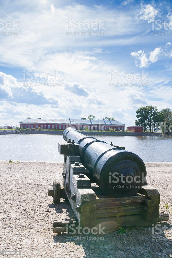 Gun weapons on the street in the summer stock photo
