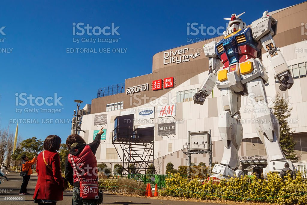 Gundam at Diver City Tokyo stock photo
