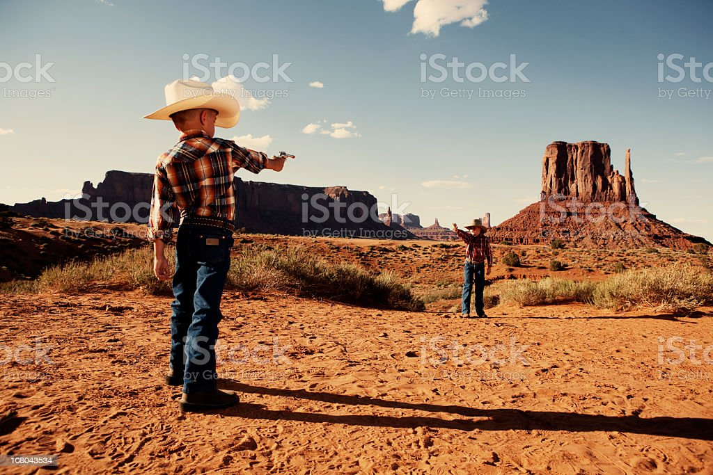 Gunfight stock photo