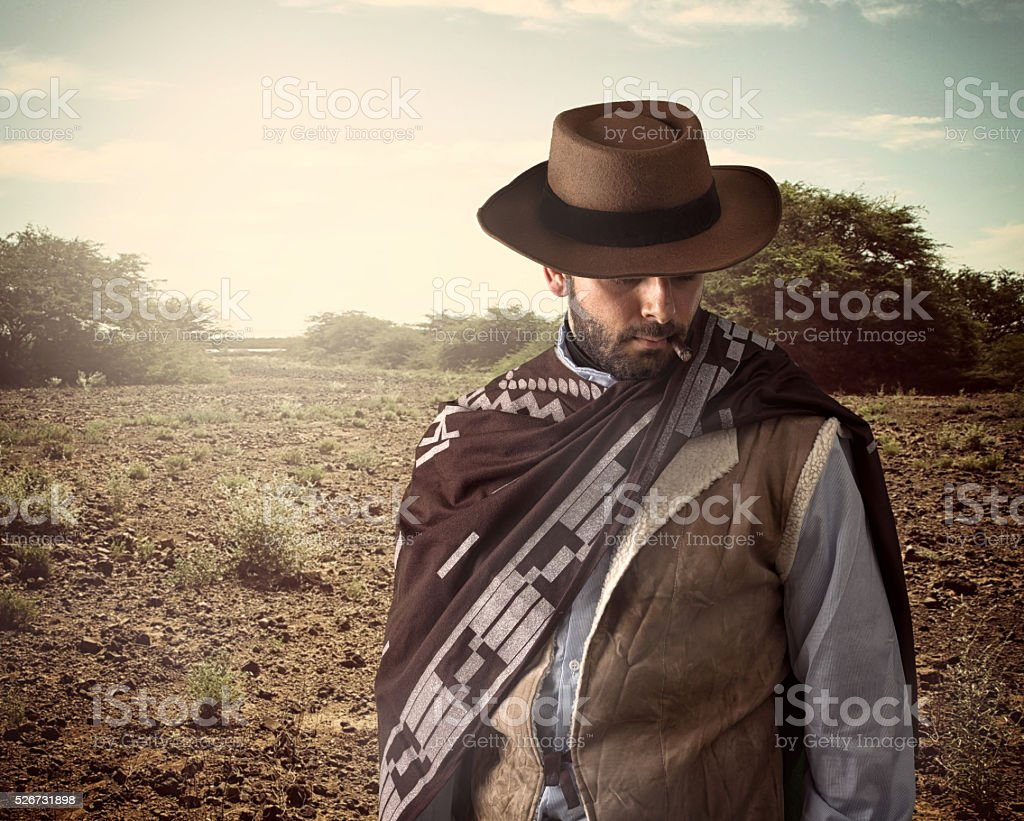 Gunfighter of the wild west stock photo