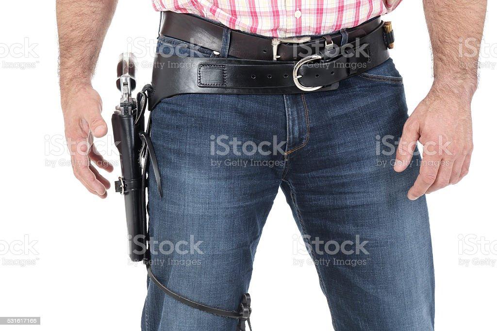 Gunfighter stock photo