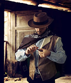 Gunfighter while scrolling tobacco