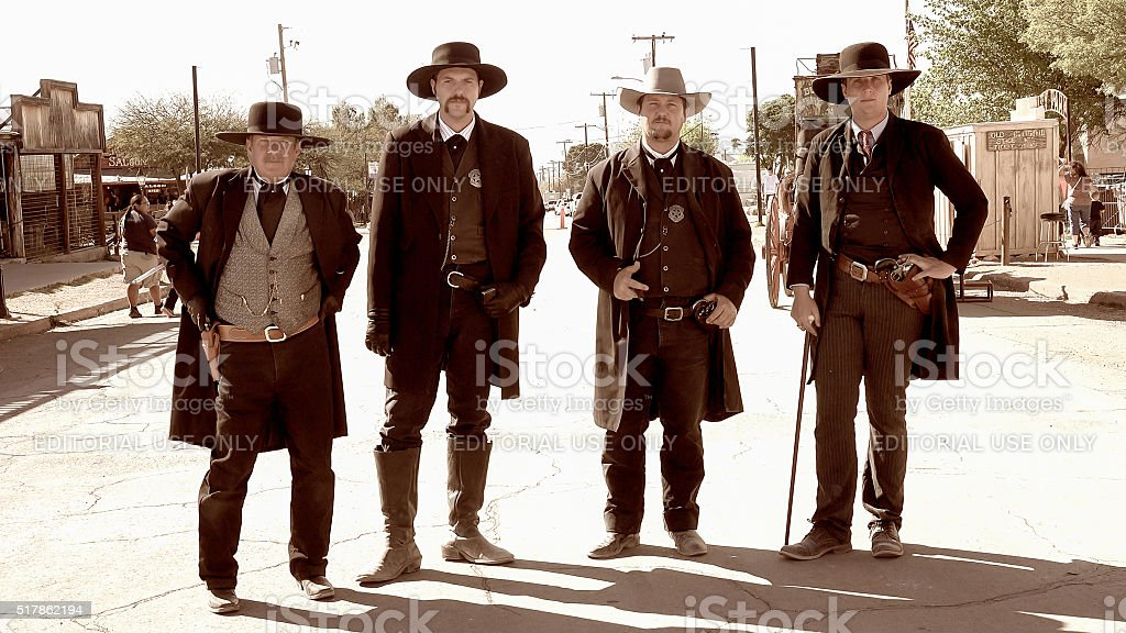 Gunfighters in the Wild West Town of Tombstone, Arizona stock photo