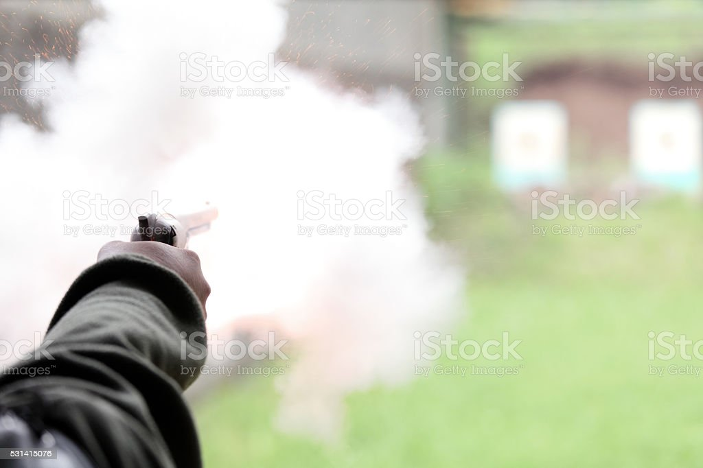 Gunfire stock photo