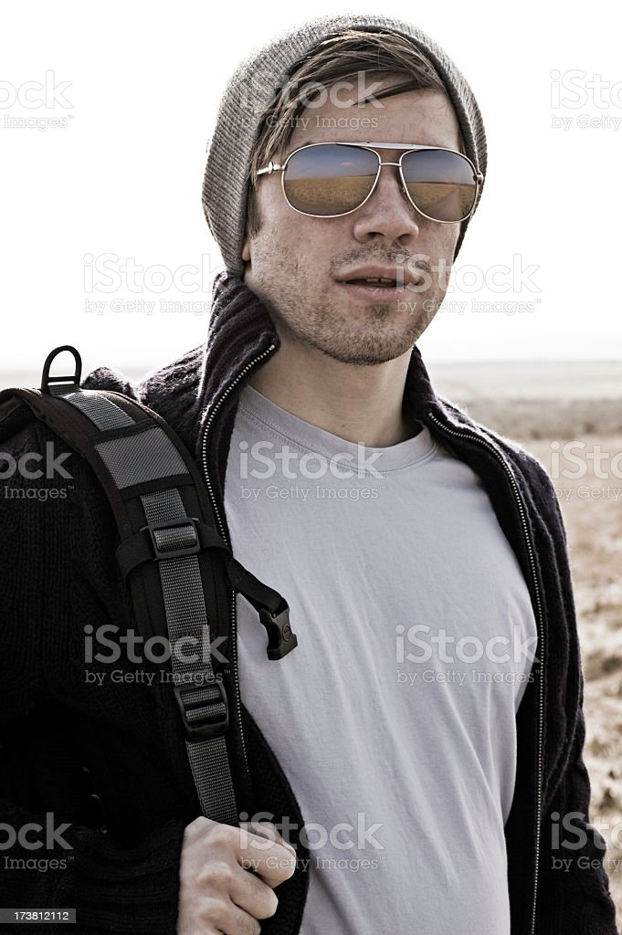 Gungy portrait of attractive young man royalty-free stock photo