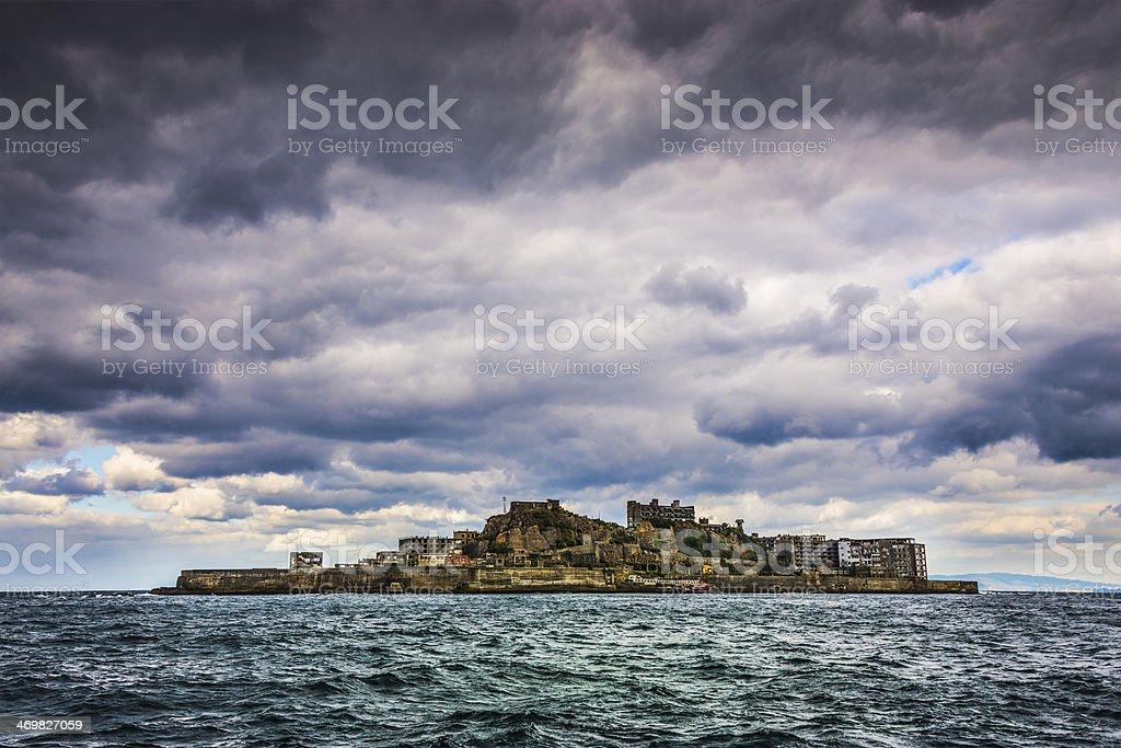 Gunkanjima Abandoned Island stock photo