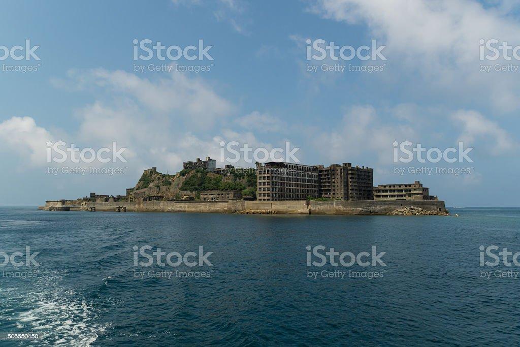 Gunkanjima (Hashima Island) in Nagasaki, Japan stock photo