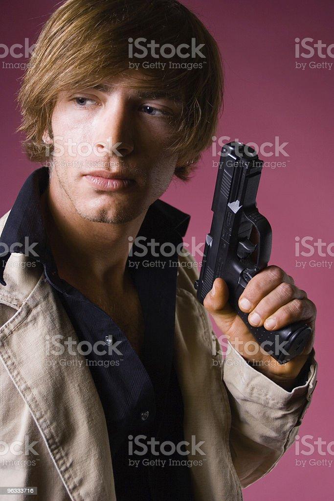 Gunman royalty-free stock photo