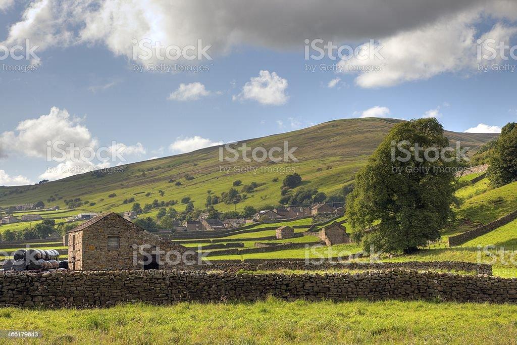Gunnerside, Yorkshire stock photo
