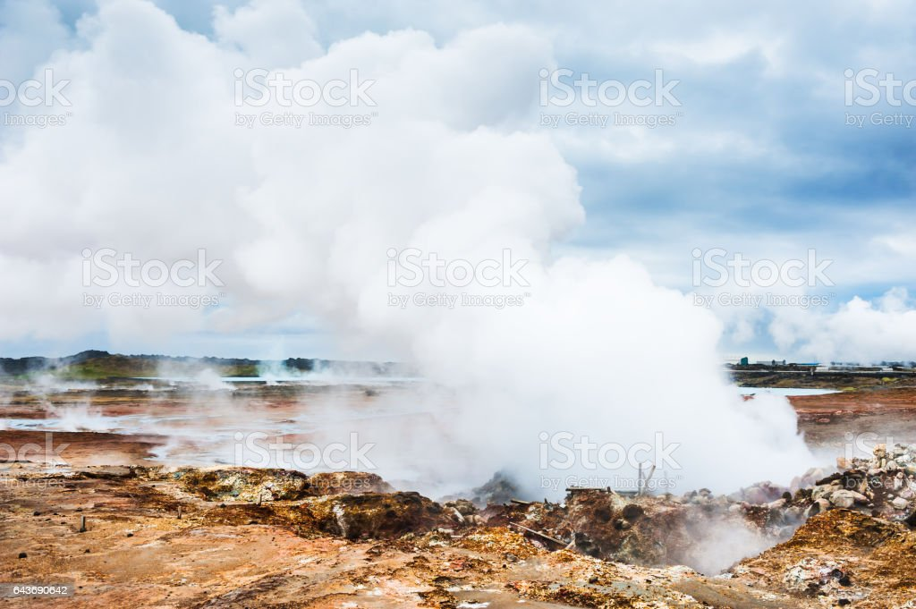 Gunnuhver geothermal area, Iceland stock photo