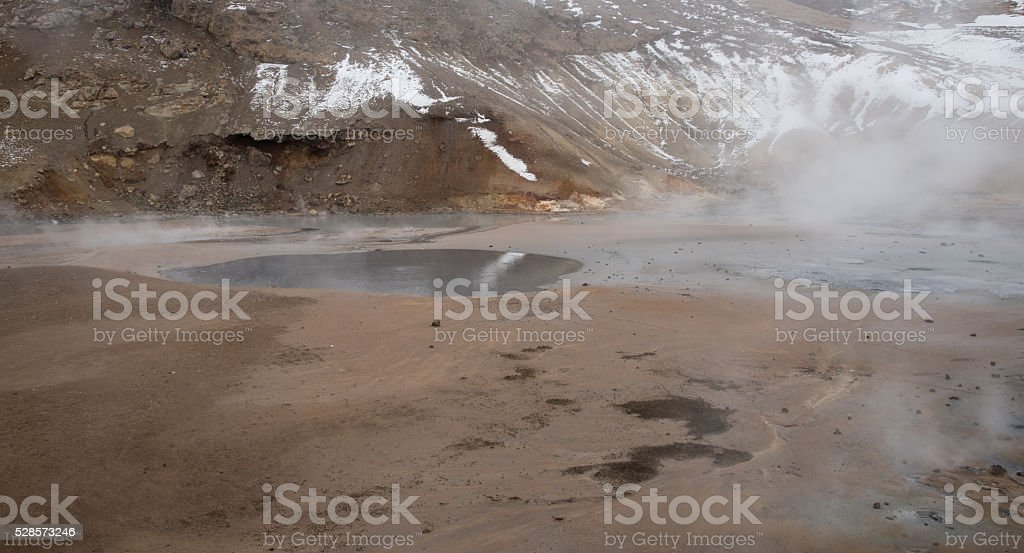 Gunnuhver Geothermal Field Iceland stock photo