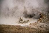 Gunnuhver mud pools and steam vents