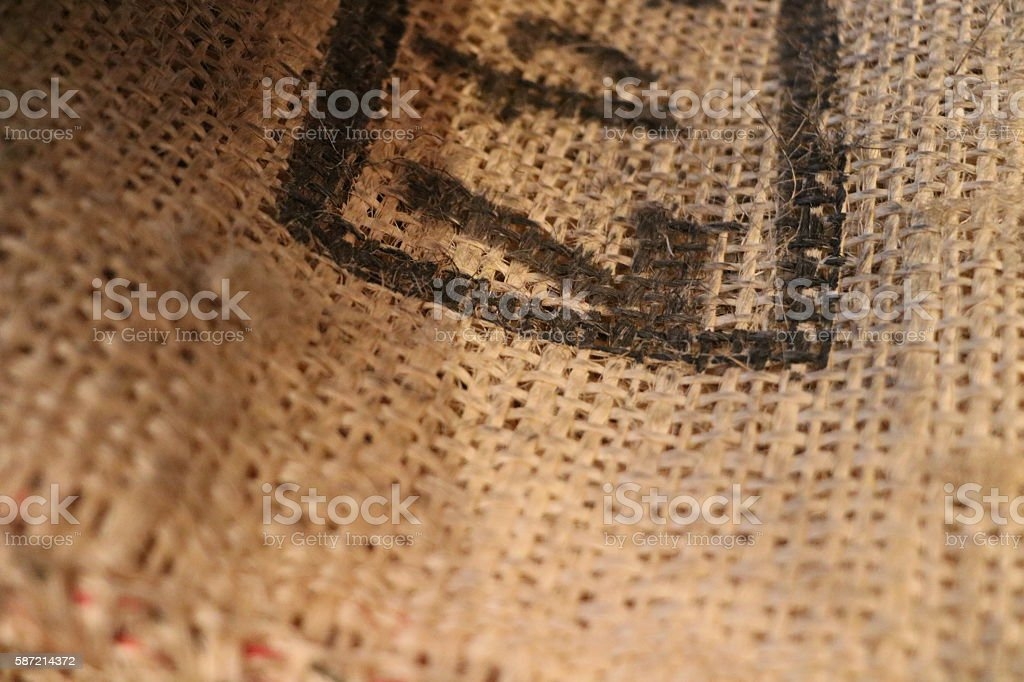 Gunny bag & Bag stock photo