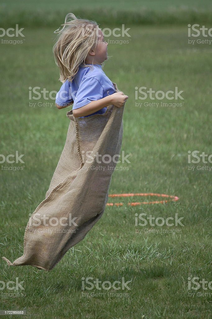 Gunny Sack Race stock photo