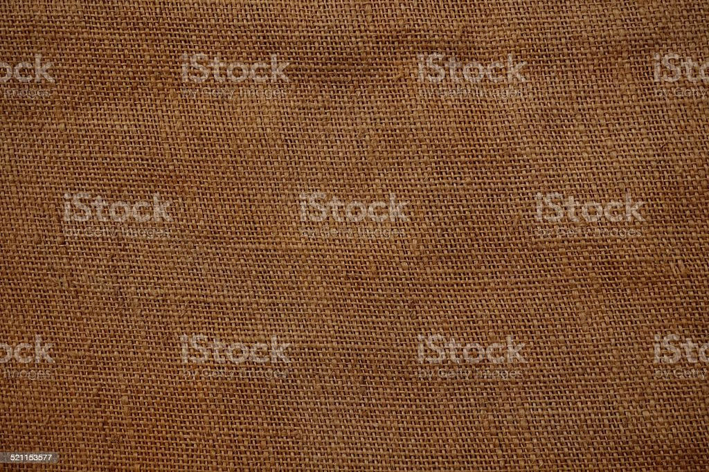 Gunnysack background brown stock photo