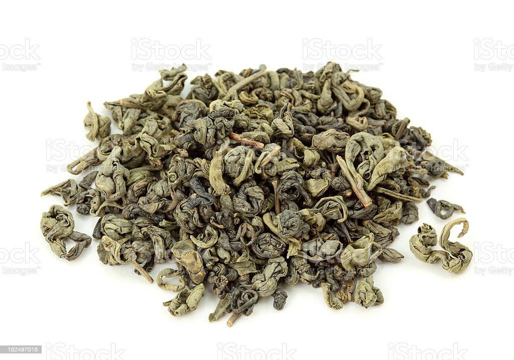 Gunpowder tea stock photo