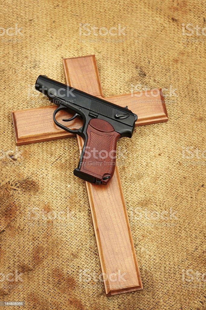 Guns and Crosses royalty-free stock photo