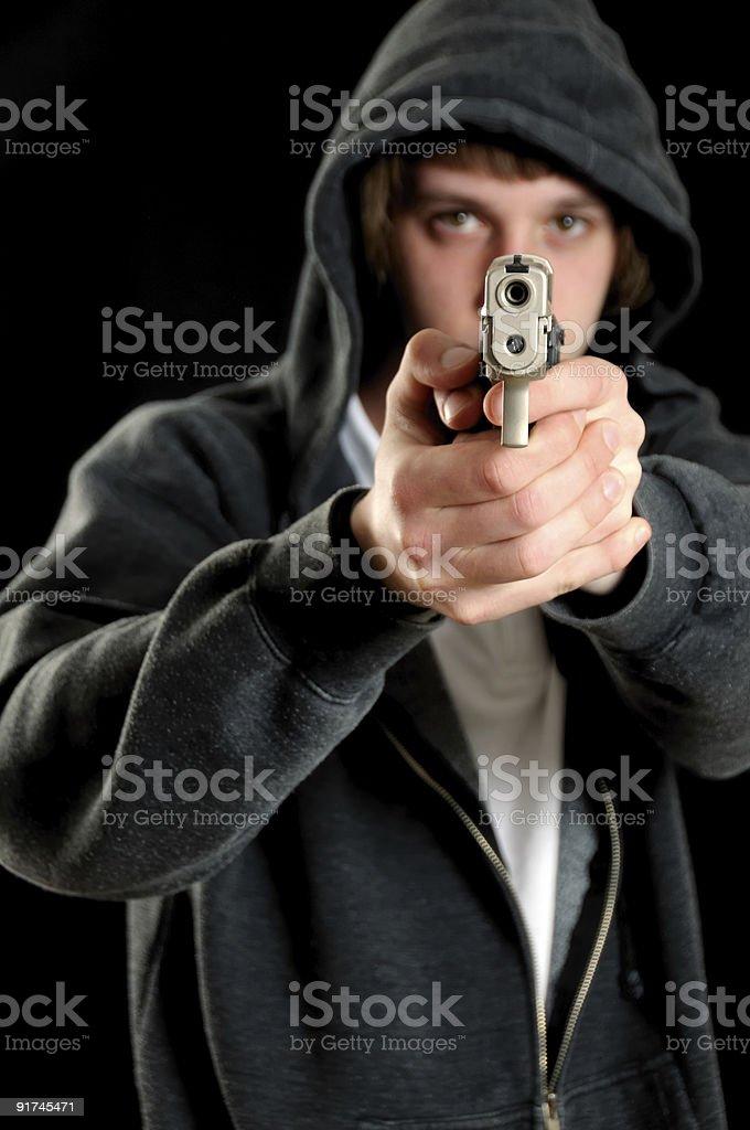 Guns are dangerous. stock photo