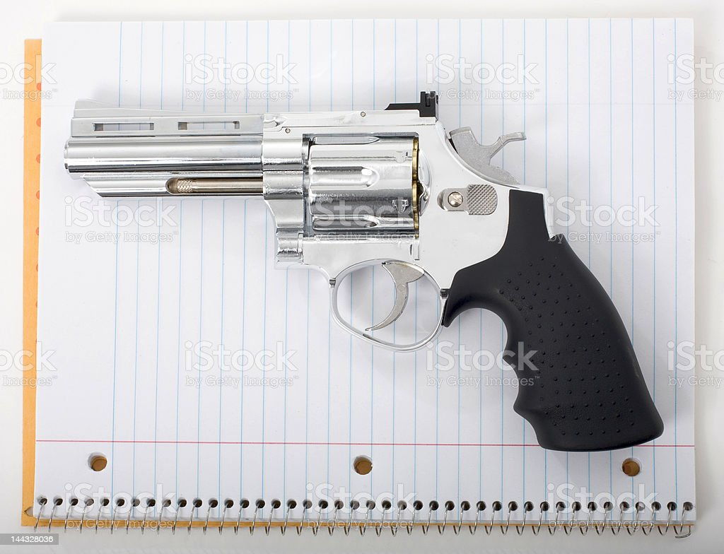 Guns in school royalty-free stock photo