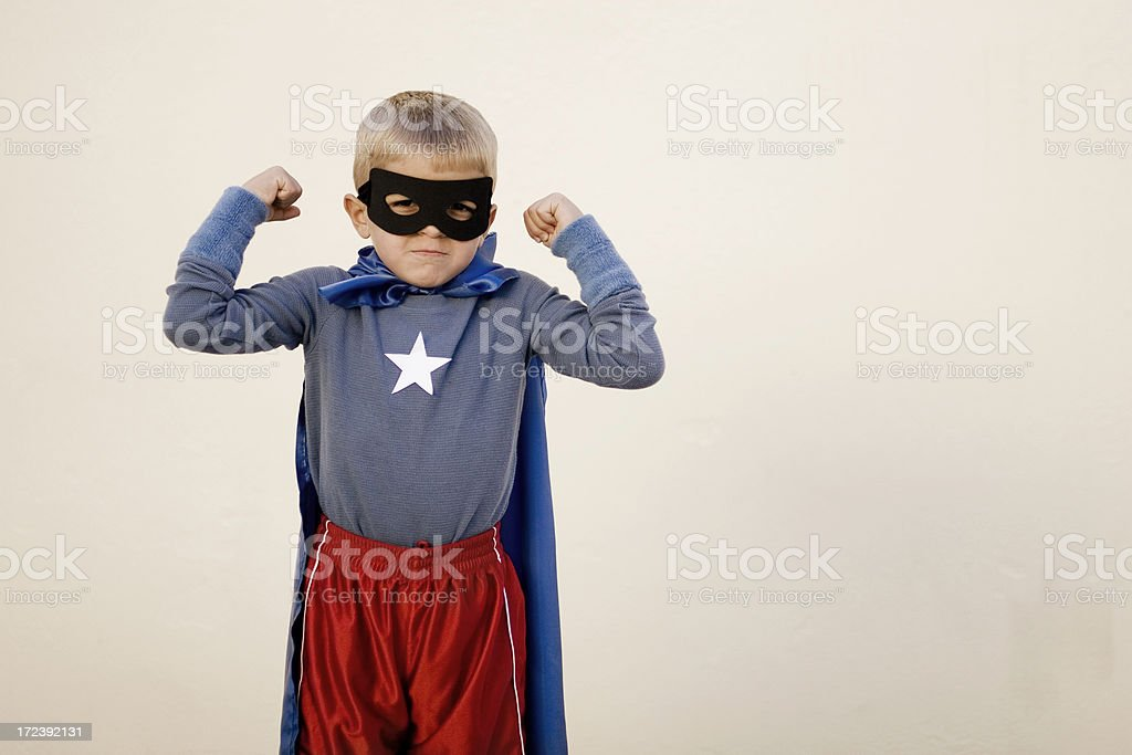 Guns of a Superhero royalty-free stock photo