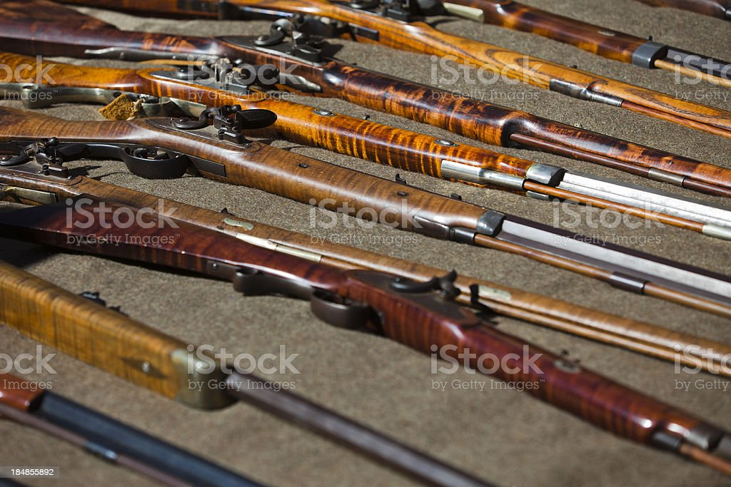 Guns on display stock photo
