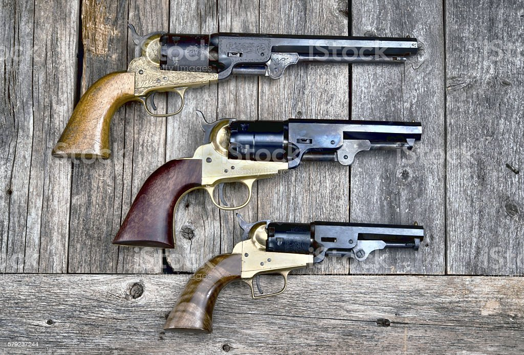 Guns that won the West. stock photo