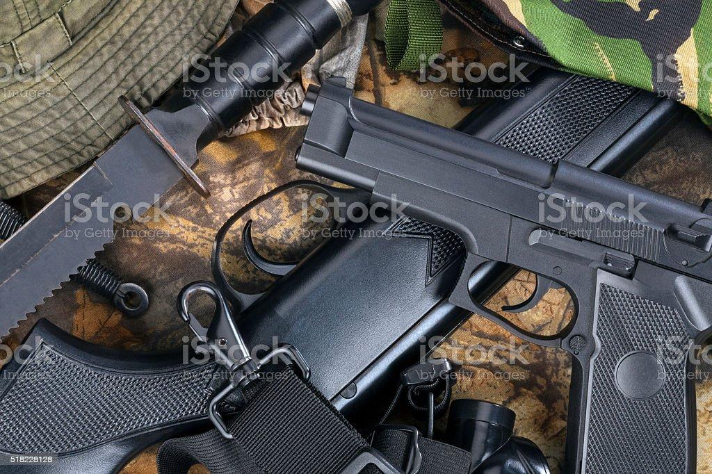 Guns - Weapons - Hunting stock photo