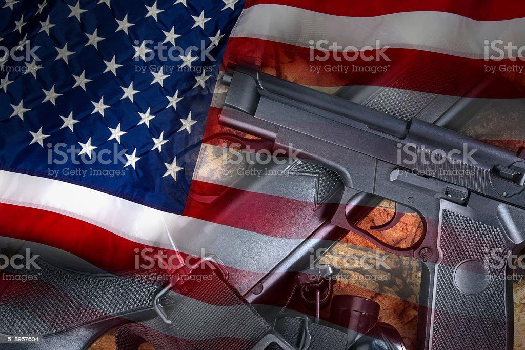 Guns - Weapons - United States stock photo