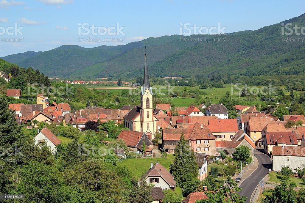 Gunsbach, village of Alsace stock photo