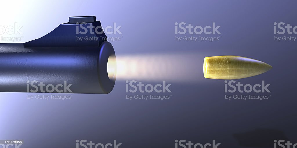 Gunshot 03 royalty-free stock photo