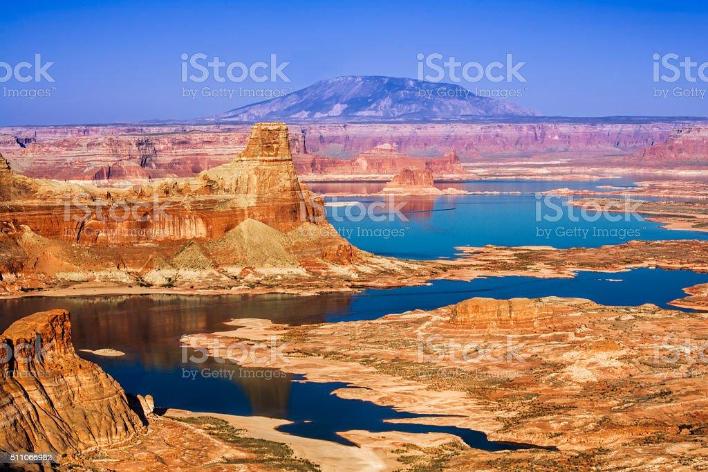 Gunsight Butte in Glen Canyon National Recreation Area Utah USA stock photo