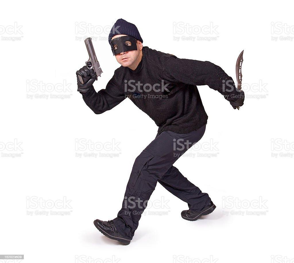 gunslinger isolated on white background stock photo