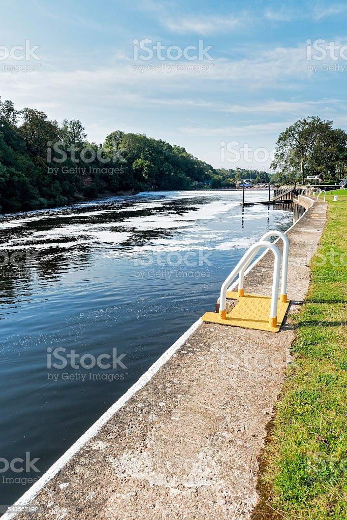 Gunthorpe Weir stock photo