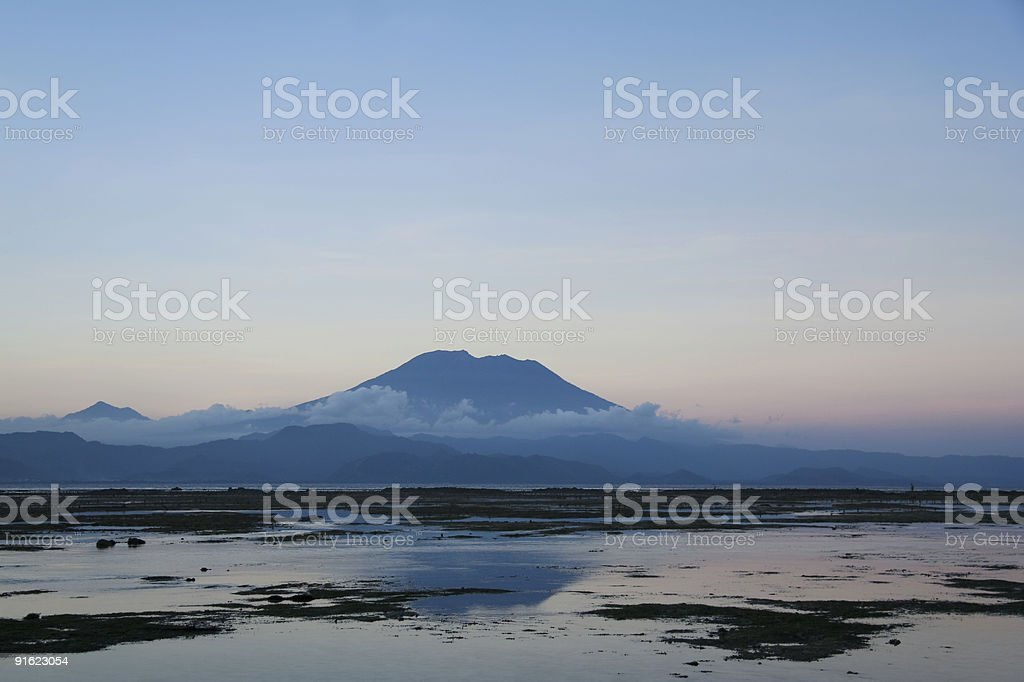 gunung agung volcano bali indonesia royalty-free stock photo