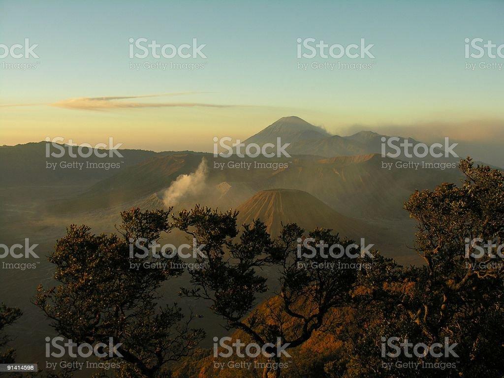 Gunung Bromo and Semeru volcano royalty-free stock photo