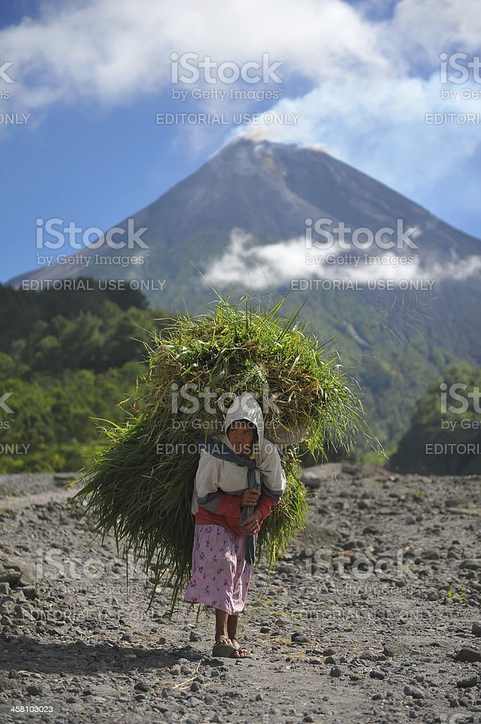 Gunung Merapi stock photo