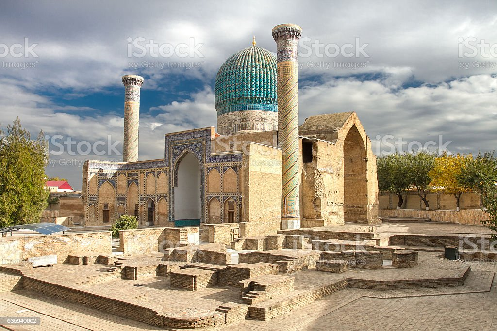 Gur Emir mausoleum of the Asian conqueror Tamerlane (also known stock photo