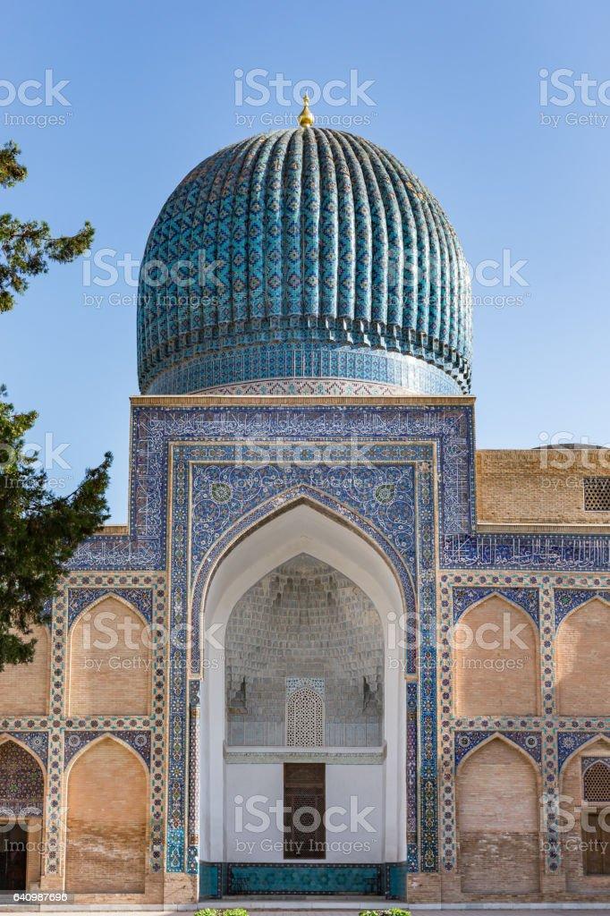 Gur-E Amir Mausoleum, in Samarkand, Uzbekistan stock photo