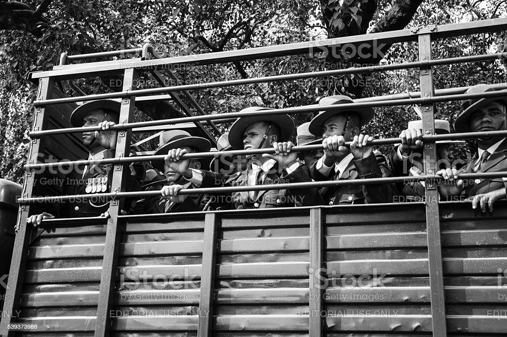 Gurkha troop transport stock photo
