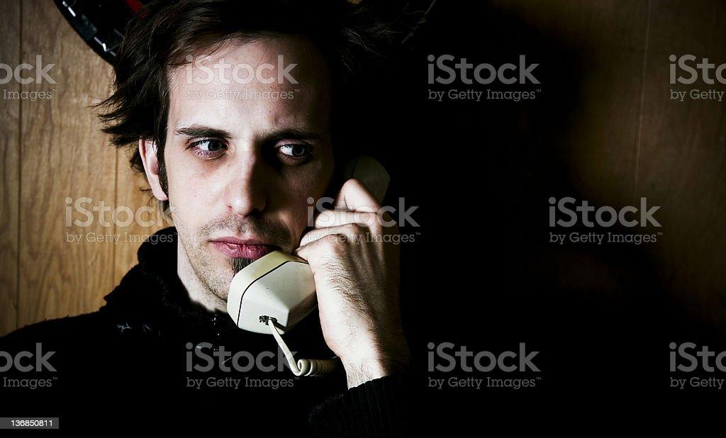 Guru and telephone stock photo