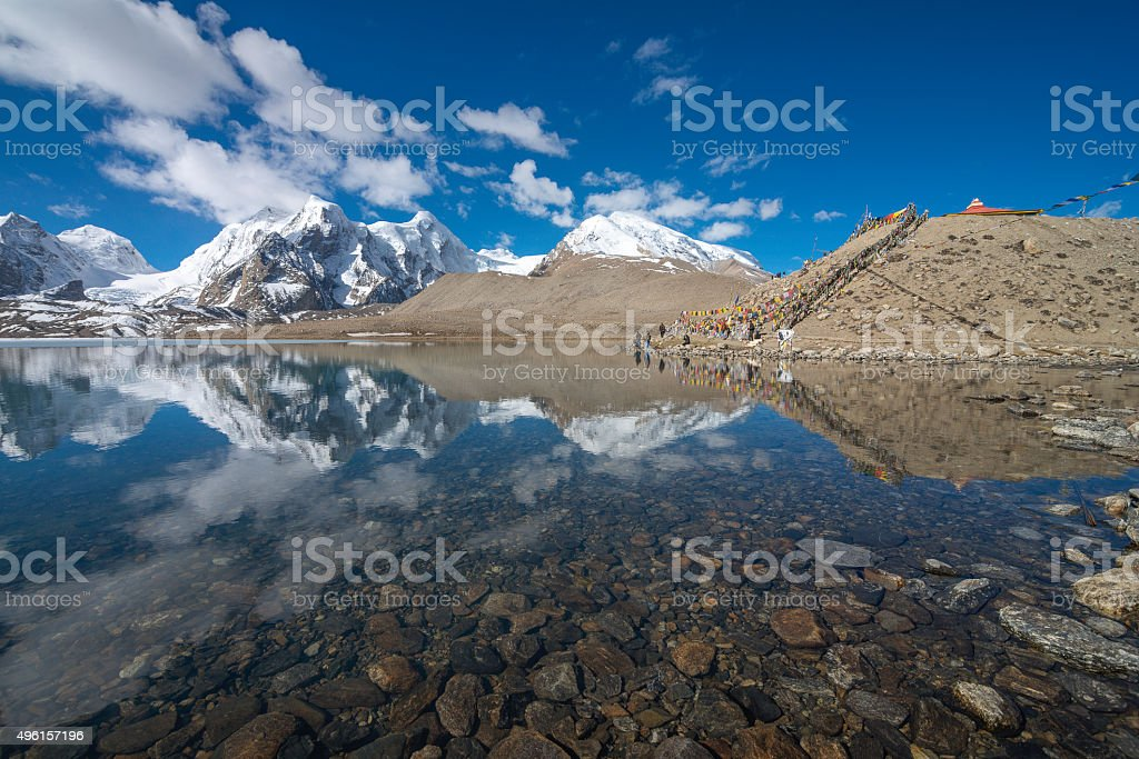 Gurudongmar Lake stock photo