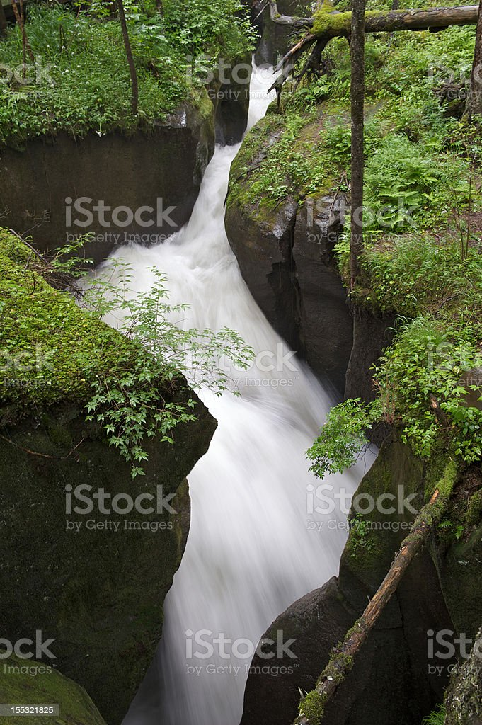 Gushing river stock photo